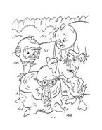 Chicken little – Amici per le penne da colorare 167
