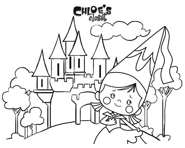 Chloe da colorare