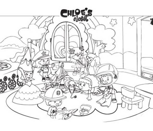 Chloe da colorare 2