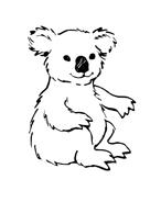 Koala da colorare 3