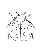Coccinella da colorare 8