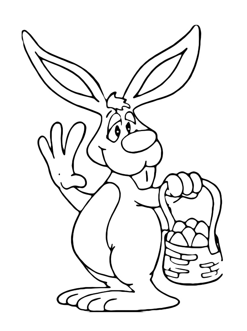 Coniglio da colorare 12