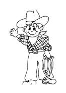 Cowboys da colorare 7