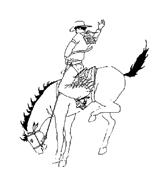 Cowboys da colorare 8