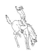 Cowboys da colorare 11