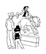 Cowboys da colorare 21