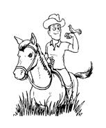 Cowboys da colorare 24