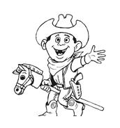 Cowboys da colorare 28