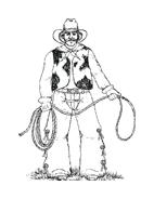 Cowboys da colorare 36