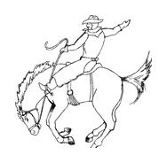 Cowboys da colorare 38