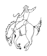Cowboys da colorare 49