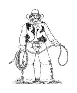 Cowboys da colorare 51