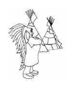 Indiani da colorare 21