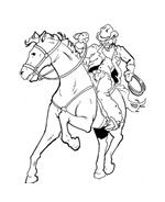 Cowboys da colorare 66