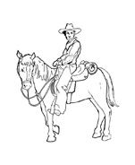 Cowboys da colorare 67
