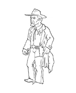 Cowboys da colorare 74
