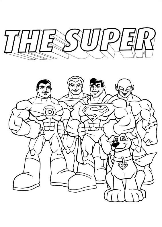 Dc-comics da colorare 9