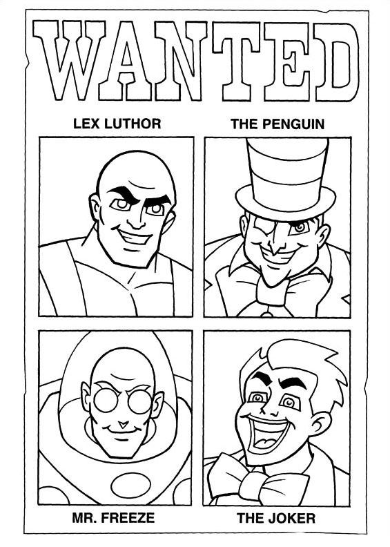 Dc-comics da colorare 11