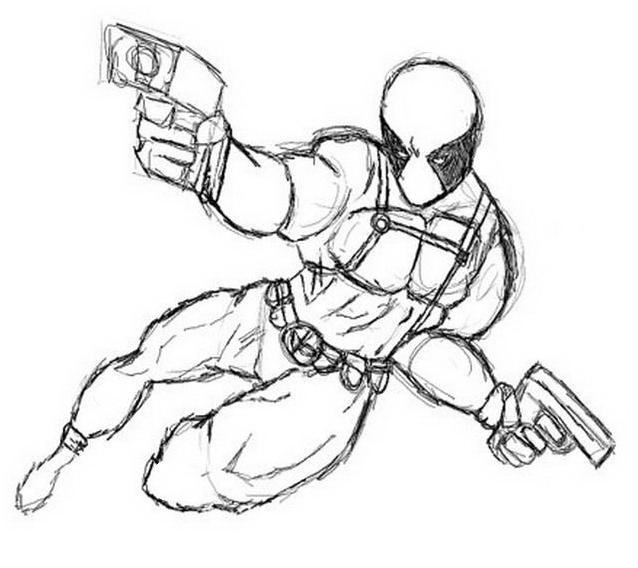 Marvel Deadpool Ausmalbilder Gratis: DisegniDaColorare.it