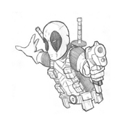 Deadpool da colorare 5