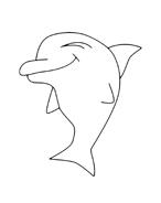 Delfino da colorare 15