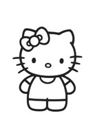 Hello kitty da colorare 9