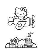 Hello kitty da colorare 2