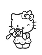 Hello kitty da colorare 3