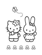 Hello kitty da colorare 5