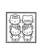 Hello kitty da colorare 8
