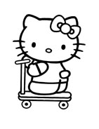 Hello kitty da colorare 10