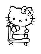 Hello kitty da colorare 10