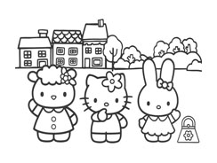 Hello kitty da colorare 11