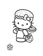 Hello kitty da colorare 12