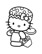 Hello kitty da colorare 13