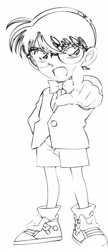 Detective conan da colorare 11