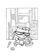 il laboratorio di Dexter da colorare 17