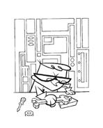il laboratorio di Dexter da colorare 26