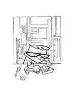 il laboratorio di Dexter da colorare 38