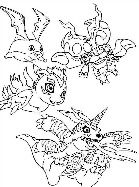 Digimons da colorare 8