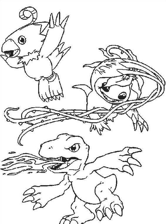 Digimons da colorare 9