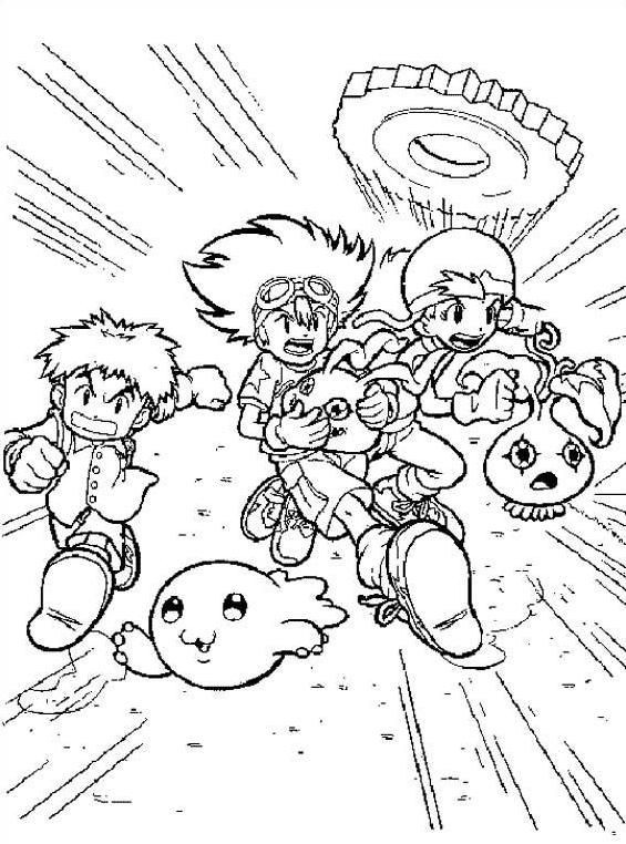 Digimons da colorare 11