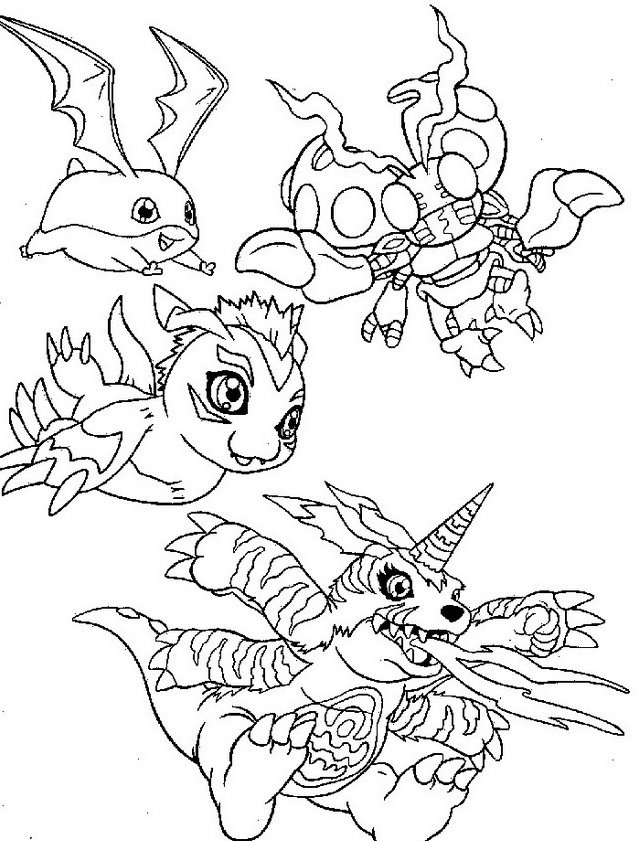 Digimons da colorare 58