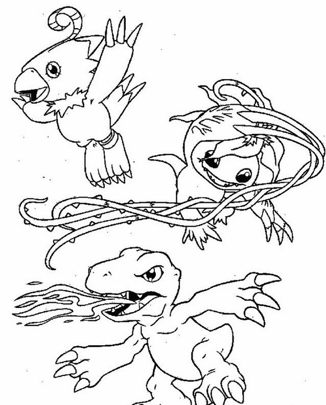 Digimons da colorare 59