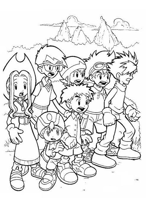 Digimons da colorare 75