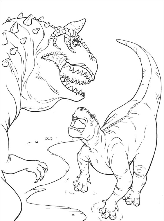 Dinosauro da colorare 23