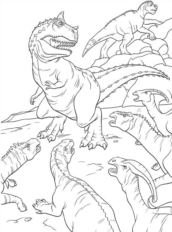 Dinosauro da colorare 24