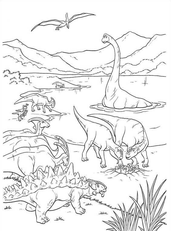 Dinosauro da colorare 31