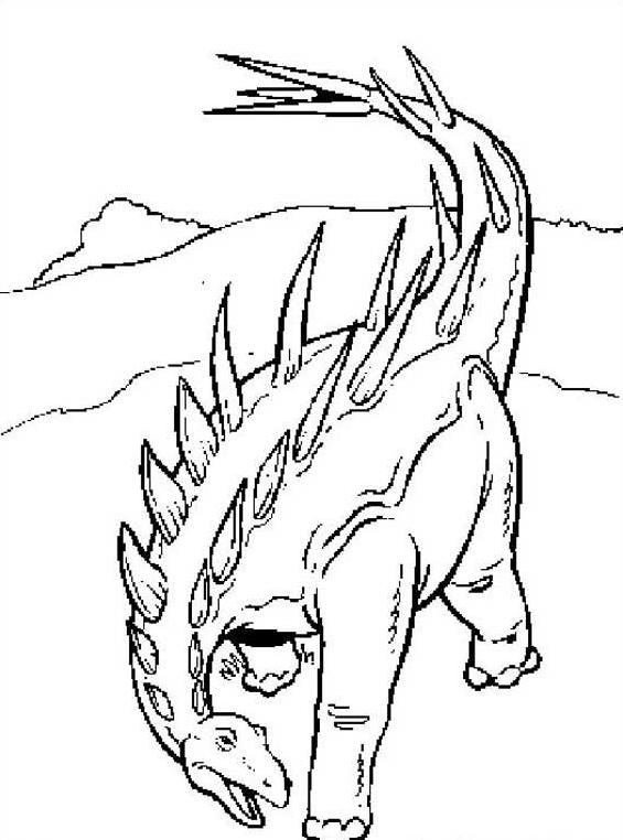 Dinosauro da colorare 74