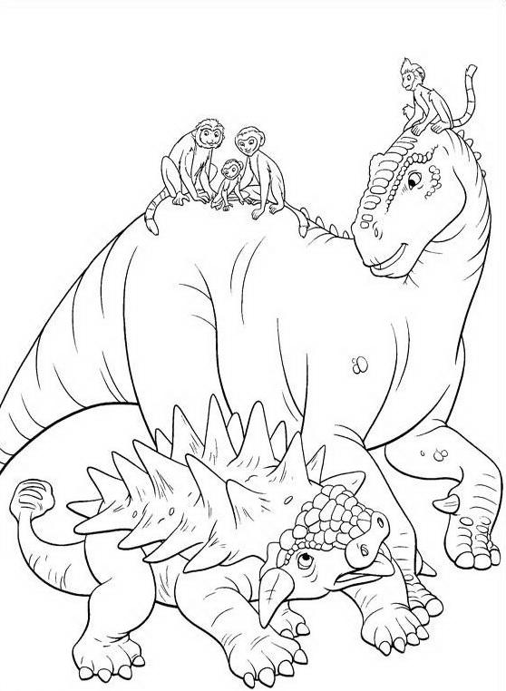 Dinosauro da colorare 93
